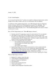 Supplier Notification Letter – - Suppliers - Meritor