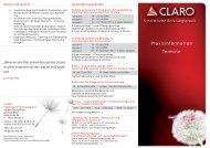 Praxisinformation Termine - Claro Karlsruhe