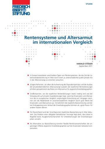 Rentensysteme und Altersarmut im internationalen ... - Welt der Arbeit