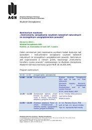 Seminarium naukowe - Wydział Zarządzania - AGH