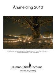Årsmelding 2010 - Human-Etisk Forbund