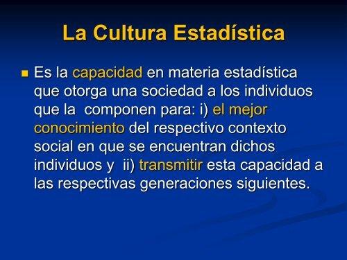 SEMANA DE ESTADÍSTICA - My Laureate