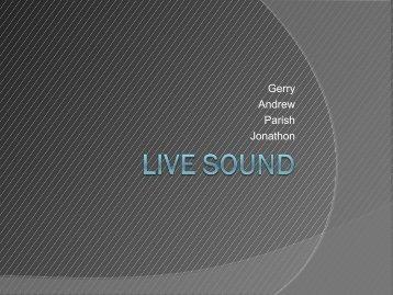 Live Sound - Glenn Bach