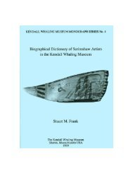 Biographical Dictionary of Scrimshaw Artists - New Bedford Whaling ...
