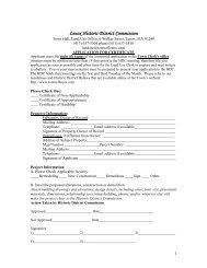 Historic District Application - Lenox