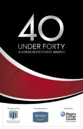 40 Under Forty Business - The Business Link Niagara