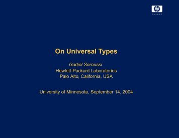 Download slides (pdf 330 KB) - University of Minnesota