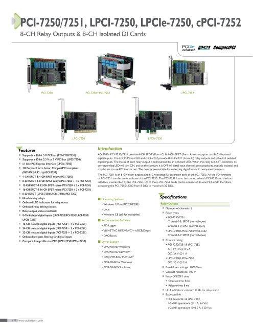 ADLINK PCI-72507251 DRIVER WINDOWS
