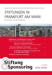 Stiftungen in Frankfurt am Main - Initiative Frankfurter Stiftungen eV