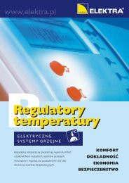 Regulatory temperatury - Elektra