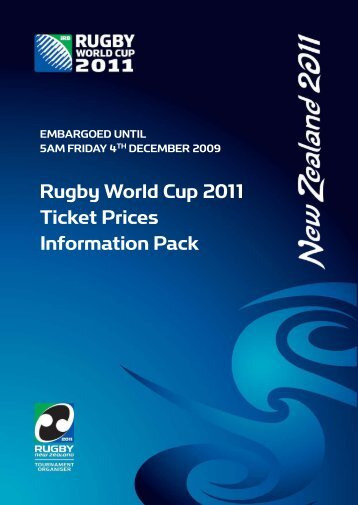 Rugby World Cup 2011 Ticket Prices Information Pack - Stuff