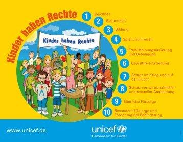 """""""Die zehn wichtigsten Kinderrechte"""" (PDF) - younicef.de"""