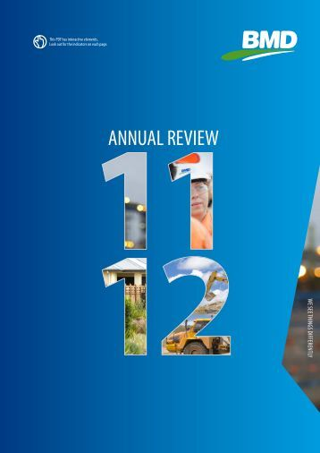 View our interactive Annual Review PDF. - BMD Group