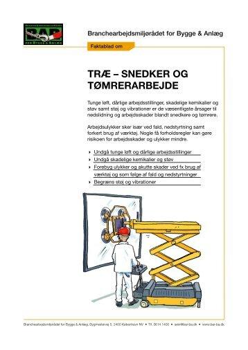 Faktablad om træ-, snedker- og tømrerarbejde - BAR Bygge & Anlæg