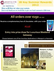 All orders over €250 (Ex Vat) - JB Key