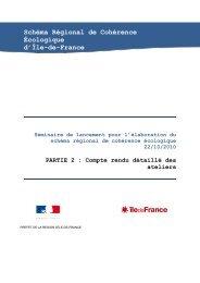 Schéma Régional de Cohérence Écologique d'Île-de ... - Webissimo