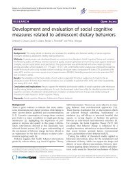 Development and evaluation of social cognitive measures related to ...
