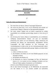 Version 2 FGGF Statuten – Oktober 2012 SATZUNG DER ...