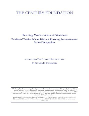 Download the report. - The Century Foundation
