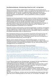 Ganzer Text zum Adventsfenster: PDF - Naturschutz.ch
