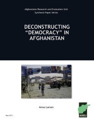 """Democracy"" in Afghanistan - the Afghanistan Research and ..."