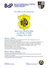 Castra Flava, Stadt der Zünfte vom 10.05.08 - BdP Landesverband ...