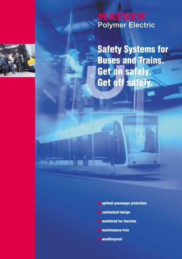 Safety Systems for Buses and Trains - Mayser Sicherheitstechnik