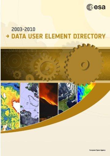 Untitled - Data User Element - ESA