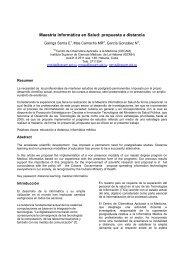 Maestría Informática en Salud: propuesta a distancia