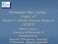 Minnesota TREC Center: - University of Minnesota Continuing ...