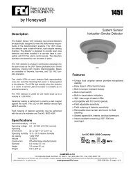 System Sensor Ionization Smoke Detector Features Description ...