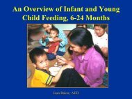 Complementary Feeding is… - Linkages Project