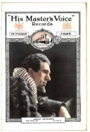 His Master's Voice Records, October 1925 - British Library - Sounds