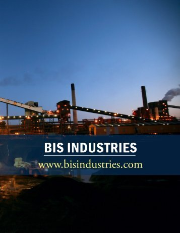 BIS InduStrIeS - The International Resource Journal
