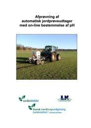 Afprøvning af automatisk jordprøveudtager med on ... - LandbrugsInfo