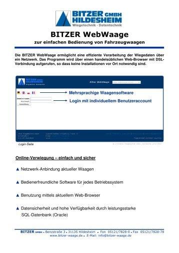 BITZER WebWaage - Bitzer Wiegetechnik GmbH