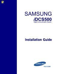 Samsung IDCS500 Instruction Manual - Samsung Telephone ...