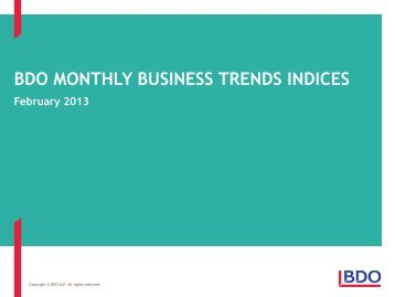 BDO Business Trends - February 2013 - Uk.com