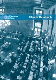 Kleines Handbuch Kantonsrat als PDF downloaden