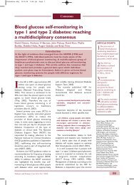 Blood glucose self-monitoring in type 1 and type 2 ... - Accu-Chek