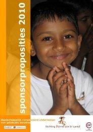 Sponsorproposities 2010 - Stichting Weeshuis Sri Lanka