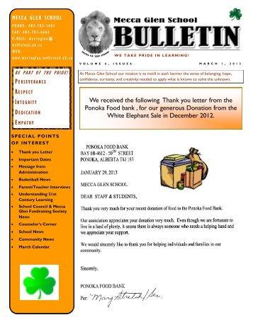Download the newsletter - Mecca Glen School