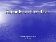 Records on the Move