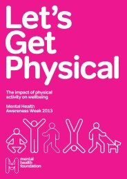 The impact of physical activity on wellbeing Mental Health ...
