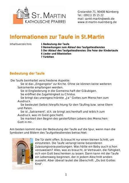 Allgemeine Informationen Zur Taufe Stadtkirche Nã¼rnberg