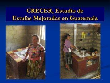 CRECER, Estudio de Estufas Mejoradas en Guatemala