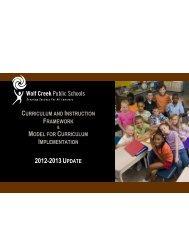 C I Framework 2012-2013 - Wolf Creek Public Schools