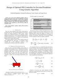 Design of Optimal PID Controller for Inverted Pendulum Using ... - ijimt