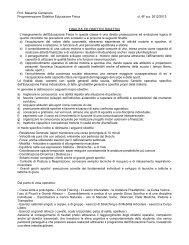 PROGRAMMA DI EDUCAZIONE FISICA