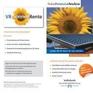 Prospekt SolarPotenzialAnalyse - Volksbank Herrenberg-Rottenburg eG